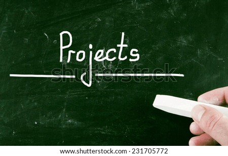 projects concept - stock photo