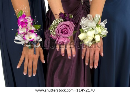 Prom or wedding corsages - stock photo