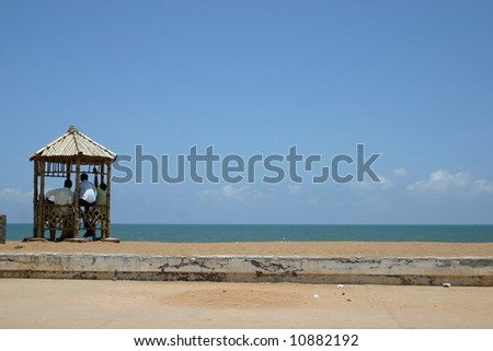 promenade in Pondicherry - stock photo
