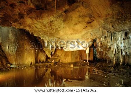 Prometheus cave - stock photo