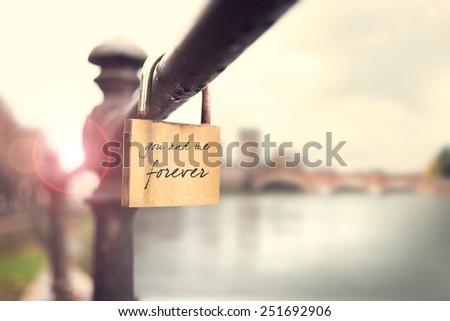 Promise of eternal love - stock photo