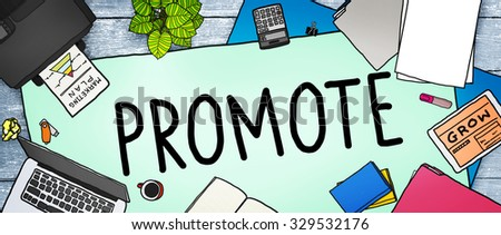 Promote Marketing Plan Commercial Promotion Concept - stock photo