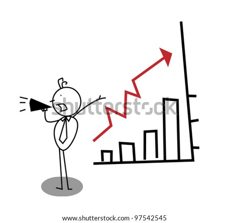 promotion Business Up Chart - stock photo