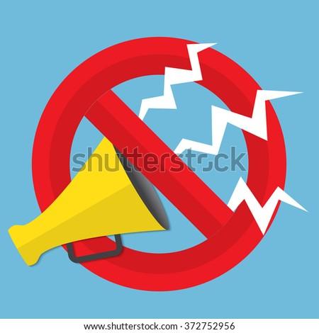 Promotion concept. Loudspeaker for website banners flat design. - stock photo