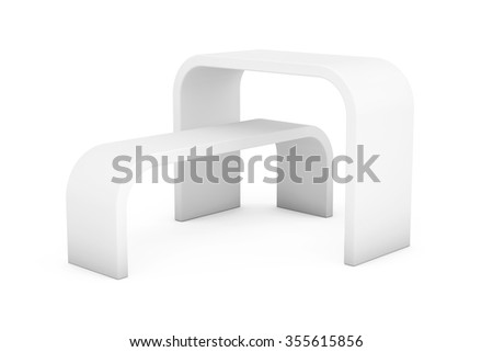 Promotion Stand Shelves on a white background - stock photo