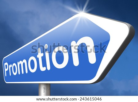 promotions in job or product sales promotion   - stock photo