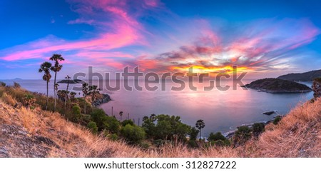 Promthep Cape - Best Phuket view point, Thailand - stock photo