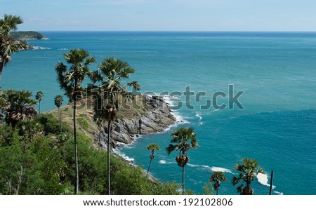 Promthep Cape. Phuket island, Thailand - stock photo