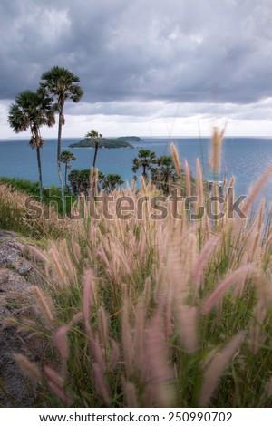 Promthep cape view point, Phuket, Thailand - stock photo