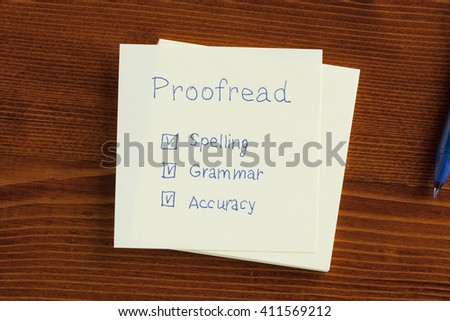Grammar proofread