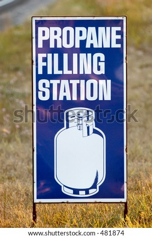 propane sign stock photo 481873