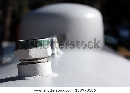 Propane Tank for Rural Domestic Utilities - stock photo
