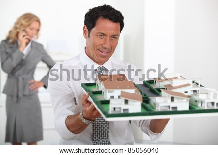 Property development consultant - stock photo