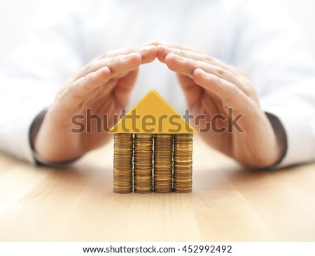 Property insurance concept  - stock photo