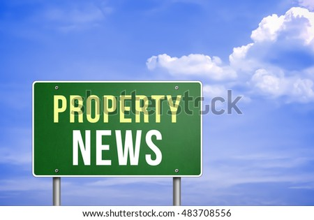 property news as 3d illustration