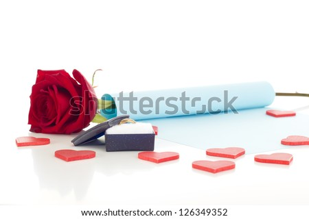 Proposal of marriage - stock photo