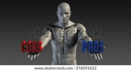 Pros or Cons as a Versus Choice of Different Belief - stock photo