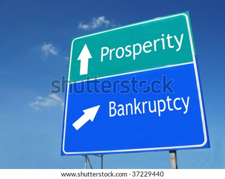 PROSPERITY-BANKRUPTCY road sign