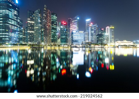 prosperous modern cityscape at night