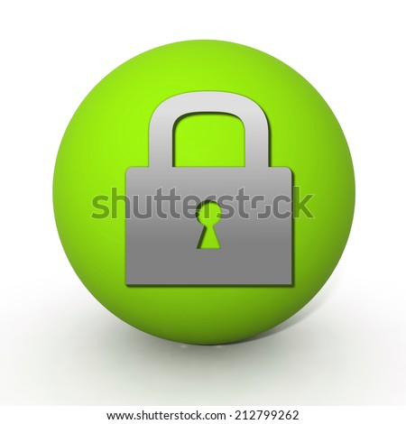 protect circular icon on white background