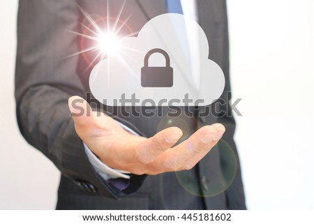 Protect cloud information data concept - stock photo