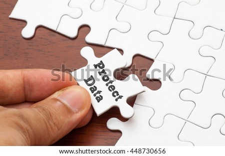 Protect Data written on missing a piece of puzzle,conceptual