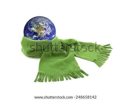 Protect the Earth. Earth image provided by Nasa. - stock photo