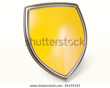 protected  sign on white background - stock photo