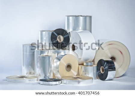 Protecting Food film in rolls - stock photo