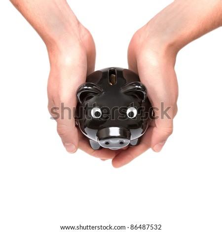 Protecting  money - stock photo