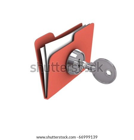 Protecting the Data. 3d illustration - stock photo