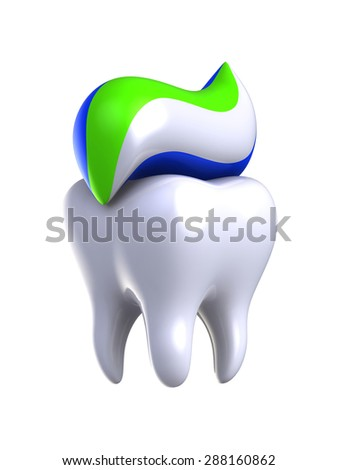 Protection and health of teeth. - stock photo