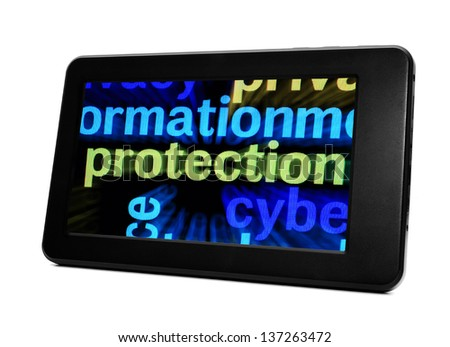 Protection and pc tablet - stock photo