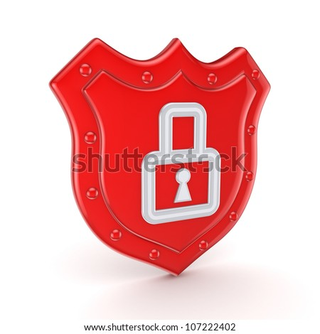 Protection concept.Isolated on white background.3d rendered.