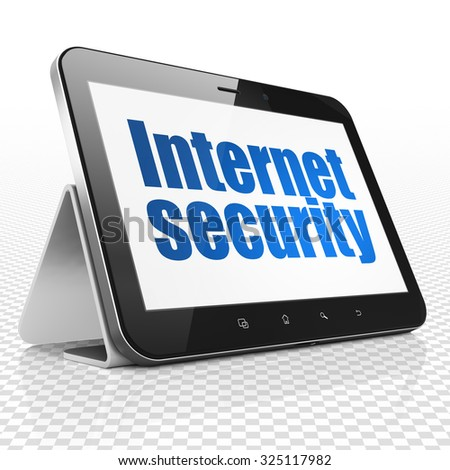 Protection concept: Tablet Computer with blue text Internet Security on display - stock photo