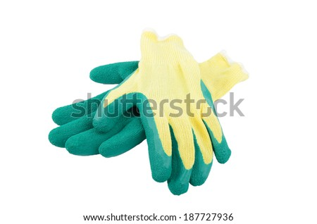 Protection gloves isolated on white background