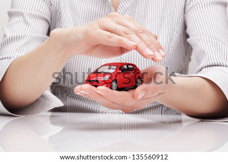 Protection of car (concept) - stock photo