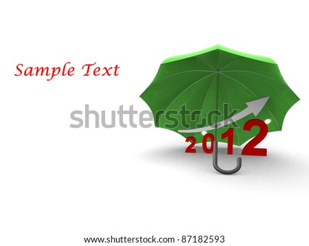 Protection on graph. 3d render - stock photo
