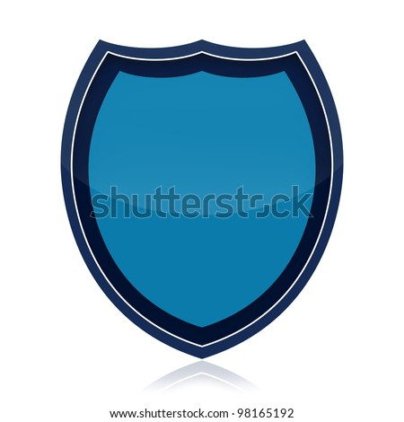 Protection shield isolated over white background - stock photo