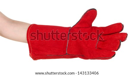 Protective glove isolated on white