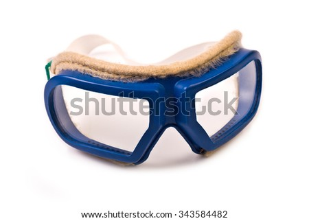 Protective Goggles isolated on white