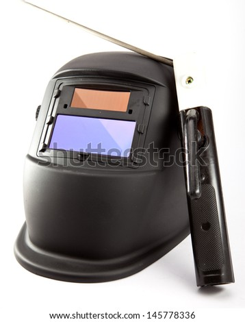 Protective mask of the welder