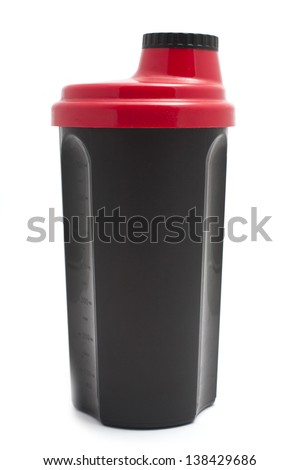 protein shaker bottle - stock photo