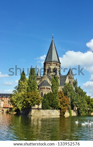 Protestant church in metz city, France