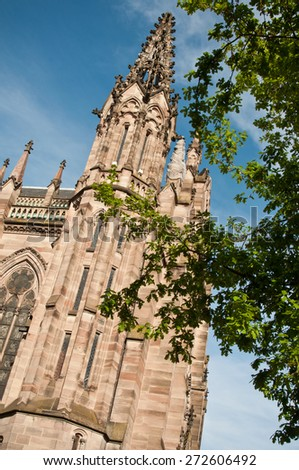 Protestant church St stephen - meeting place - Mulhouse - Alsace - France - stock photo