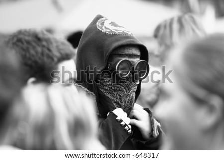 Protester - stock photo