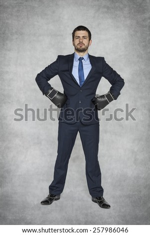 proud and ready to fight - stock photo