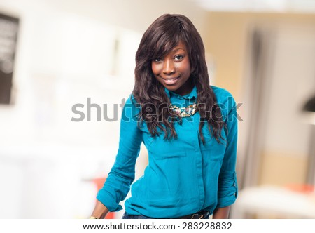proud black woman isolated - stock photo