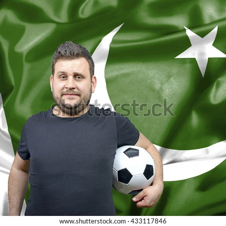Proud football fan of Pakistan - stock photo