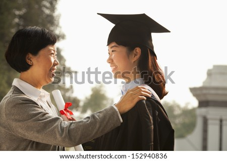 Proud Mother of a Graduate - stock photo